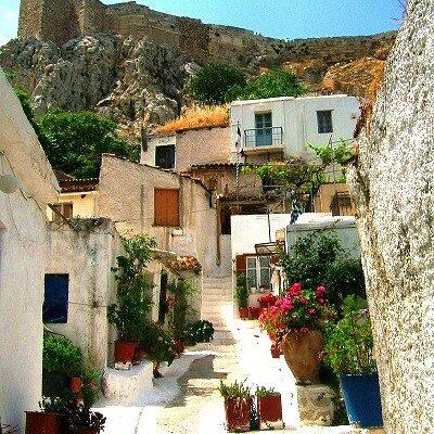 Athens Anafiotika Scenery