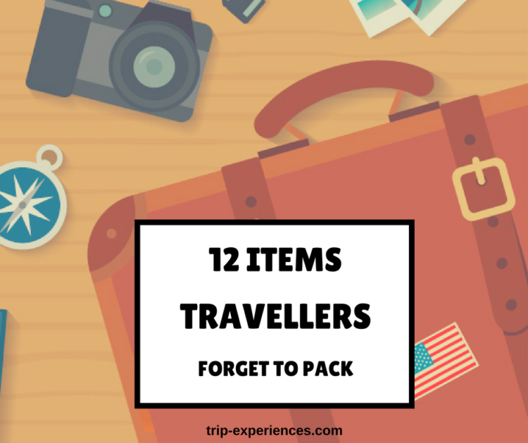 Items Travellers Forget To Pack