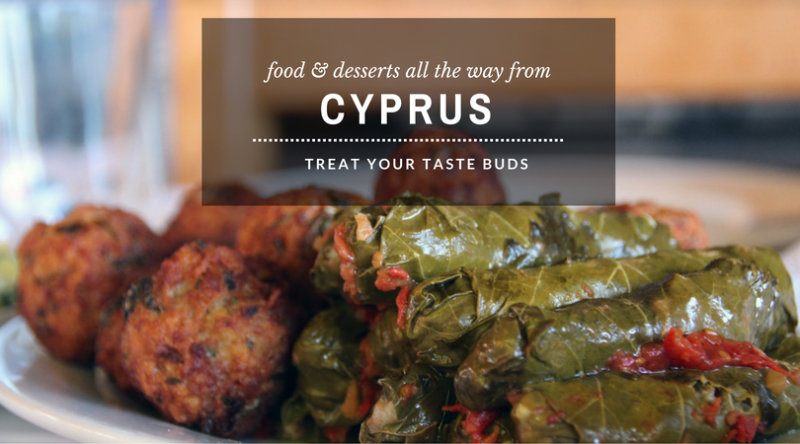 food & desserts all the way from cyprus